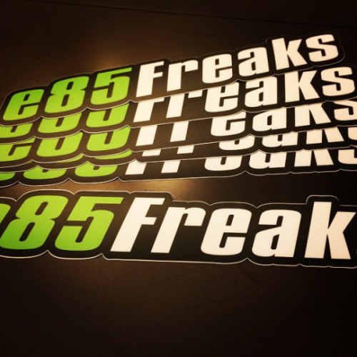 e85freaks die cut decal